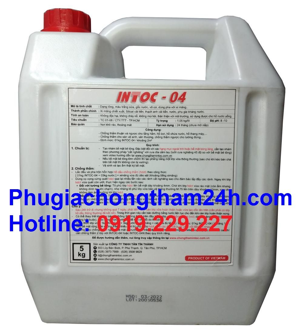 chất chống thấm intoc 04