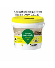 Keo dán gạch Weberfix Plus trộn sẵn chuyên dùng cho ốp tường nội thất ở khu vực khô ráo và ẩm ướt