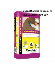 Weberbase levelling plaster - Vữa xi măng dùng làm phẳng bề mặt tường