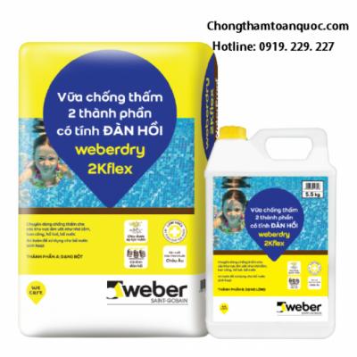 Vữa chống thấm gốc xi măng Weberdry 2Kflex