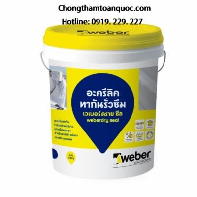 Vữa chống thấm Weberdry Seal - Gốc Acrylic pha trộn sẵn