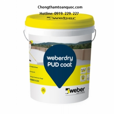 Weberdry PUD coat - Chống thấm gốc Polyurethane có độ đàn hồi cao